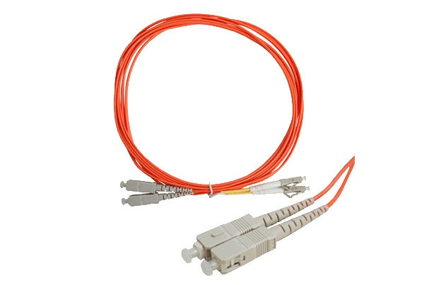 Multi Mode Fiber Patch Cable LC to SC Connectors (3m)