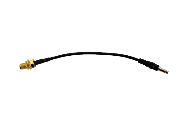 Pigtail TS9 STR to RP-SMA Female Bulkhead (6in / 15cm)