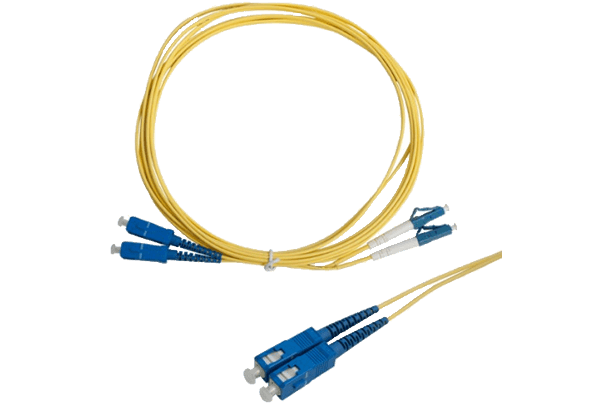 Single Mode Fiber Patch Cable LC to SC Connectors (3m)