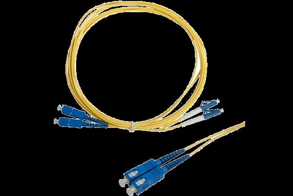 Single Mode Fiber Patch Cable LC to SC Connectors (3m)